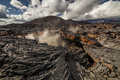 Dramatic views of the volcanic landscape. Kamchatka Peninsula. - PhotoDune Item for Sale