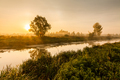 Fairytale landscape with morning fog and mysterious river - PhotoDune Item for Sale