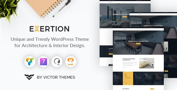 Exertion - Architecture & Interior Design WordPress Theme