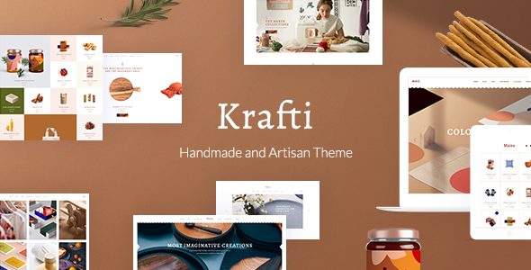 Krafti – Arts & Crafts WordPress Theme Free Download