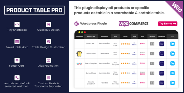 Woo Product Table Pro - Making Quick Order Table Cracked Codecanyon