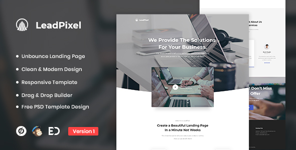 LeadPixel - Agency Unbounce Landing Page Template