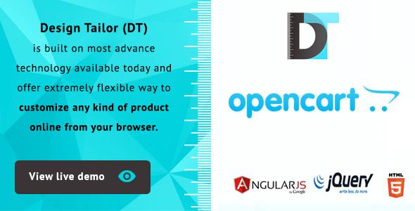 Design Tailor -  Custom Product Designer Plugin Opencart