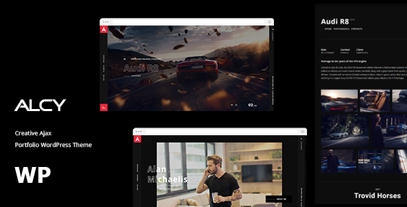 Alcy -Creative Ajax Portfolio WordPress Theme