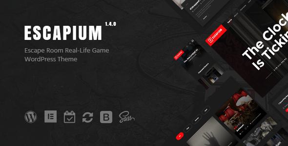 Escapium - Escape Room Game WordPress Theme