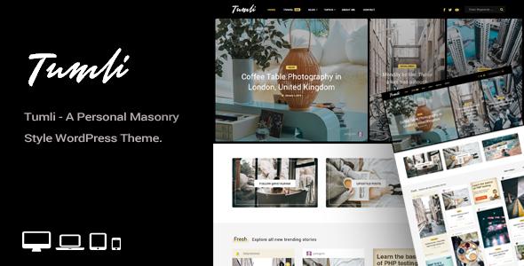 Tumli - A Personal Masonry Style WordPress Theme