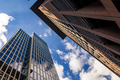 Skyscrapers of Frankfurt on a sunny day. Abstract cityscape - PhotoDune Item for Sale