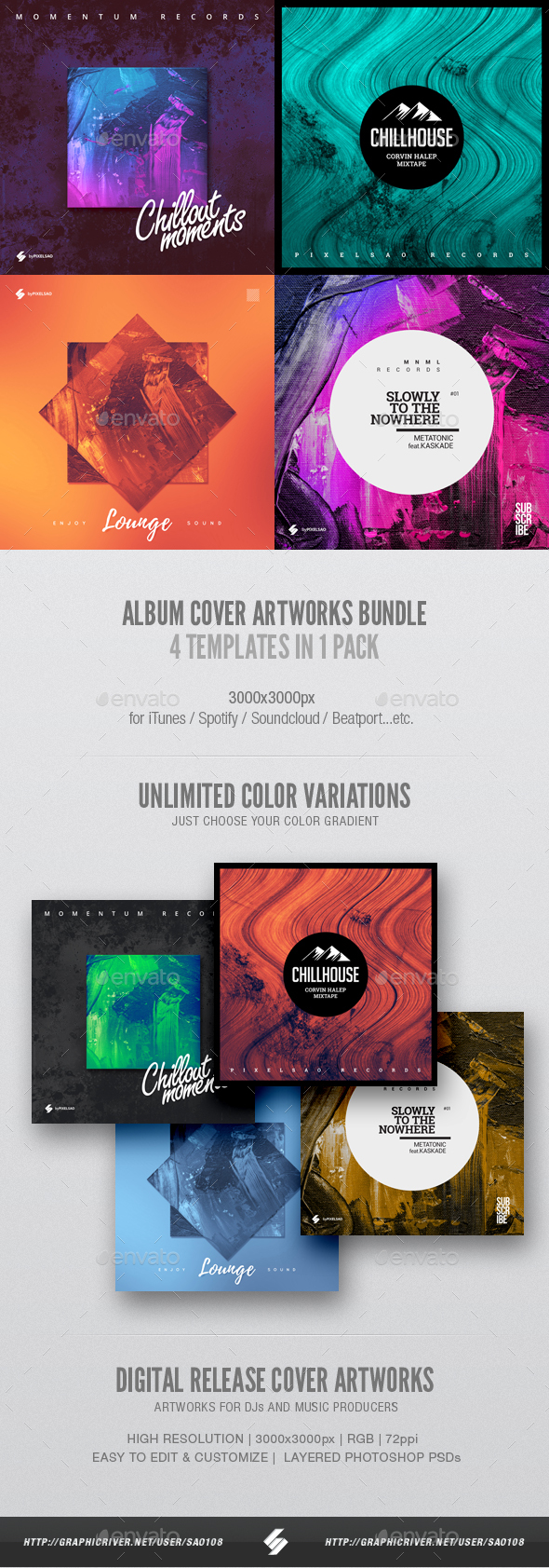 Spotify Cover Graphics, Designs & Templates from GraphicRiver