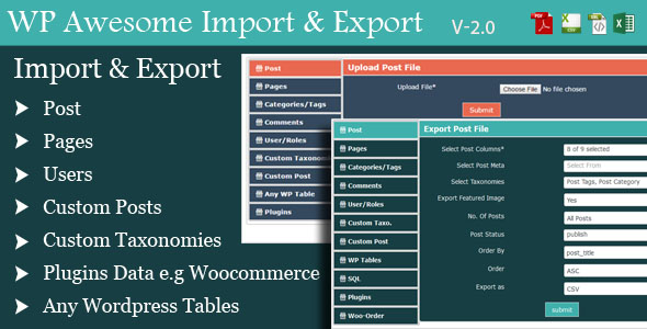 WordPress Awesome Import & Export Plugin - V 3.2 Free Download #1 free download WordPress Awesome Import & Export Plugin - V 3.2 Free Download #1 nulled WordPress Awesome Import & Export Plugin - V 3.2 Free Download #1