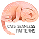 Cute Cats Seamless Patterns Collection - GraphicRiver Item for Sale