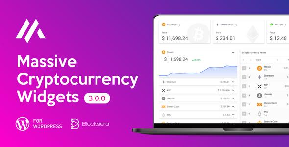 Massive Cryptocurrency Widgets | Crypto Plugin Download