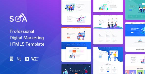 Soa | Digital Marketing HTML5 Template