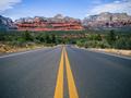 Driving in Sedona, Arizona towards Mescal Mountain - PhotoDune Item for Sale