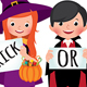 Group of Children in Halloween Party Costumes - GraphicRiver Item for Sale