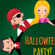 Group of Children in Carnival Costumes of Halloween - GraphicRiver Item for Sale
