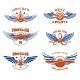 Set of Vintage Airplane Show Emblems - GraphicRiver Item for Sale