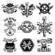 Set of Car Service Station Emblems and Design - GraphicRiver Item for Sale