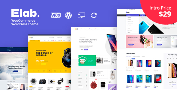 eLab – Electronics Shop WordPress Theme Free Download