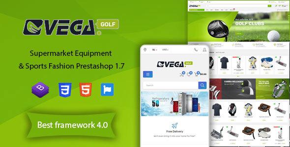 Vega Store - Supermarket Equipment & Sports Fashion PrestaShop Theme