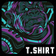 Tech Muscle T-Shirt Design - GraphicRiver Item for Sale