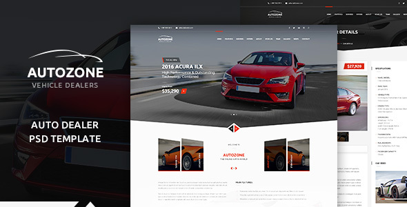AUTOZONE -  Car Dealer PSD Theme
