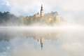 Foggy morning at Lake Bled in Slovenia - PhotoDune Item for Sale
