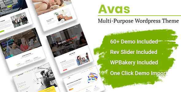 Avas | Multi-Purpose WordPress Theme