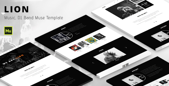 Lion - Music Adobe Muse template