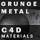 Grunge Metal Materials For C4D - 3DOcean Item for Sale