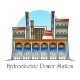 Hydroelectric Station with Waterfall Hydro Plant - GraphicRiver Item for Sale