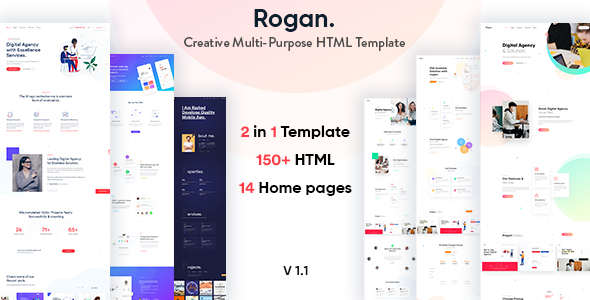 Creative HTML Website Templates from ThemeForest