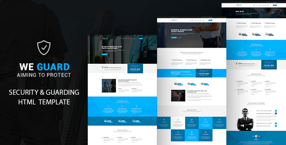 We guard -  Security HTML Template