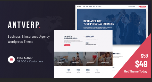 Antverp | An Insurance & Financial Advising WordPress Theme