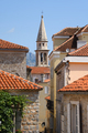 Bell tower and buildings in old town of Budva, Montenegro - PhotoDune Item for Sale