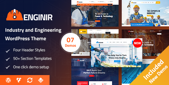 Enginir - Industrial & Engineering Multipurpose WordPress Theme