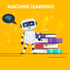 Robot with Stack of Books - GraphicRiver Item for Sale