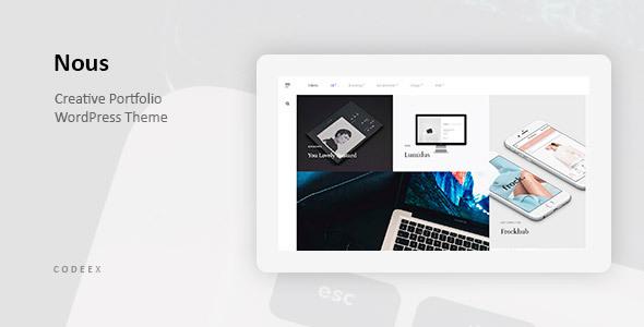 Nous - Creative Portfolio WordPress Theme
