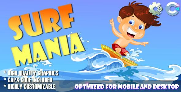 Surf Mania (C2, C3, HTML5) Game.