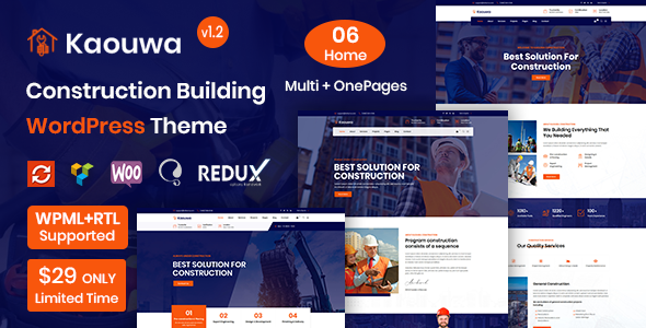 Kaouwa - WordPress Construction Building Theme