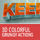 3D Colorful Grunge Actions - GraphicRiver Item for Sale