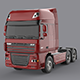 DAF XF 105 Red - 3DOcean Item for Sale