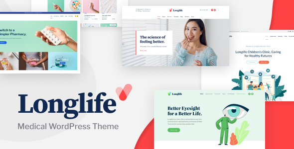 LongLife – Medical WordPress Theme Free Download