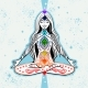 Vector Girl Seating in Meditation with Chakras - GraphicRiver Item for Sale
