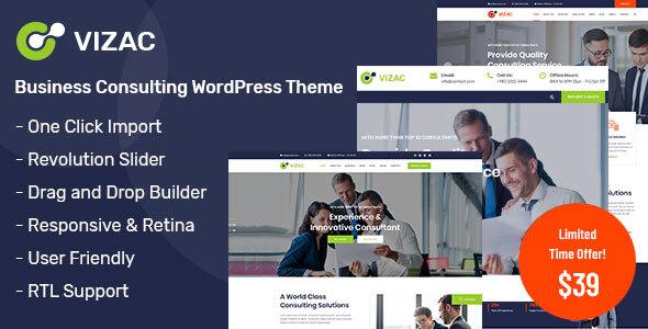 Vizac - Consulting Business WordPress Theme