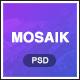 Mosaik - Agency Portfolio PSD Template - ThemeForest Item for Sale