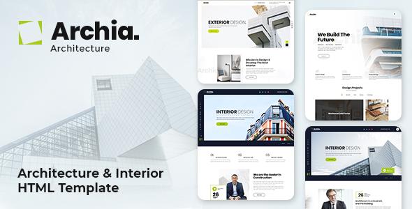 Archia - Architecture and Interior Design RTL Ready Template