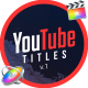YouTube Motion Titles   Final Cut Pro X and Apple Motion - VideoHive Item for Sale
