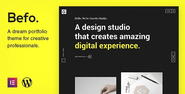 Befo - A Portfolio Theme for Creative People