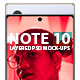 Note 10 Layered PSD Mock-ups - GraphicRiver Item for Sale