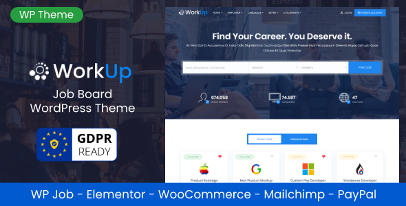 Workup – Job Board WordPress Theme